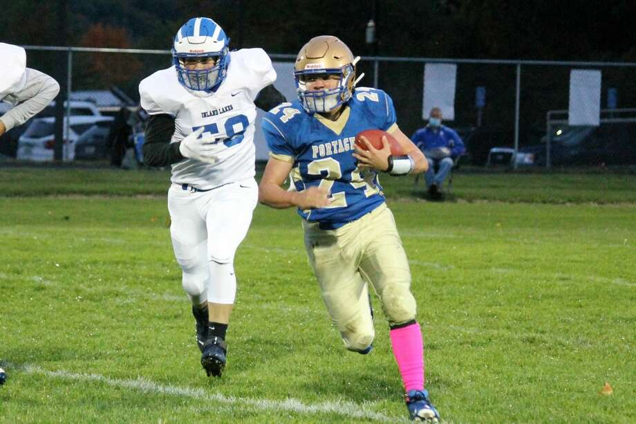 Johnny Neph tries to make something happen on offense with the ball against Indian River Inland Lakes on Oct. 2. Photo: File Photo