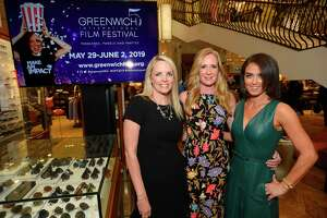 Ginger Stickel, Executive Director for the Greenwich International Film Festival, along with GIFF Co-founders Colleen deVeer and Wendy Stapleton are photograph at a kick off party for the 5th Annual Greenwich International Film Festival at Richards in 2019. There will be virtual social impact films virtually screened in February and the GIFF is looking for area non-profits to apply for a grant that will be awarded to help support their efforts.