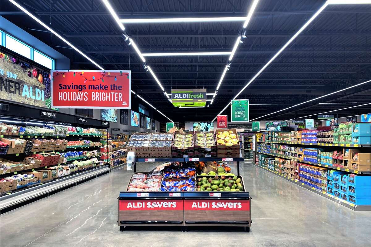 More than 90 percent of the store consists of Aldi-exclusive brands.