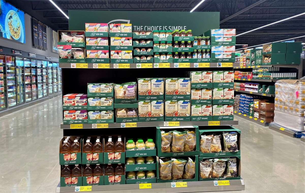 Aldi's signature brands include Simply Nature organic products and Millville cereals.