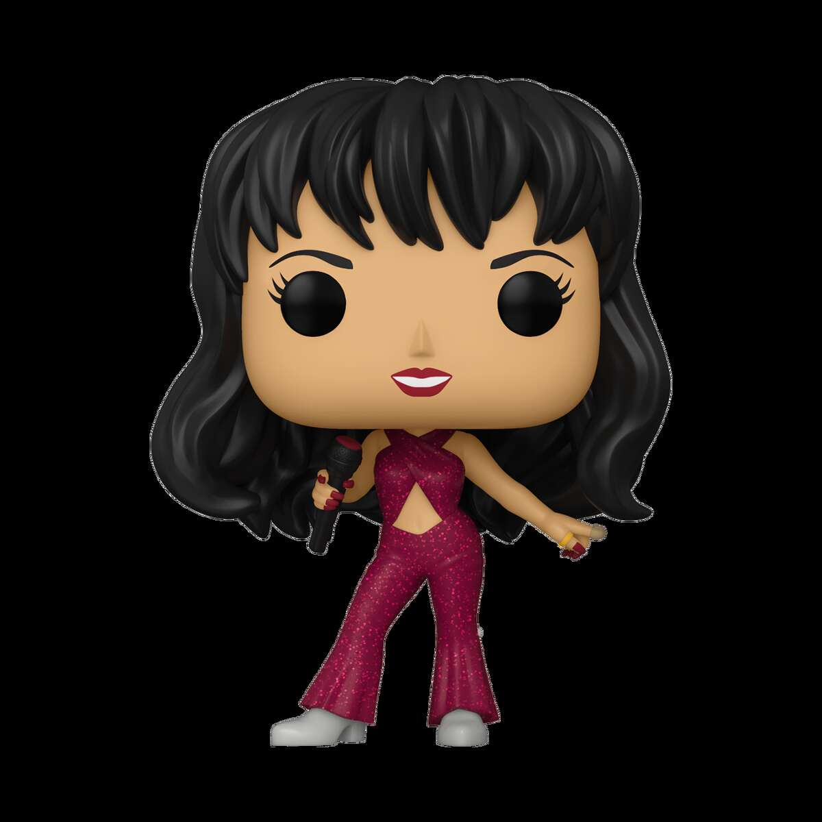 Last week, Funko released the designs of its first-ever Pop! line of the Cumbia Queen Selena - and the figures sold out quick on Amazon. The Pop! with Selena in the iconic burgundy outfit is out of stock on Amazon but is still available for pre-order on Entertainment Earth for $10.99.