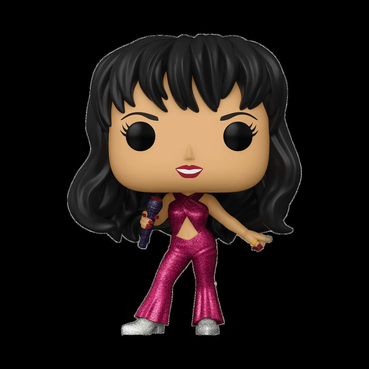 Funko said a diamond collection with Selena in a sparkling burgundy outfit will be sold exclusively next year at the retail chain Hot Topic.