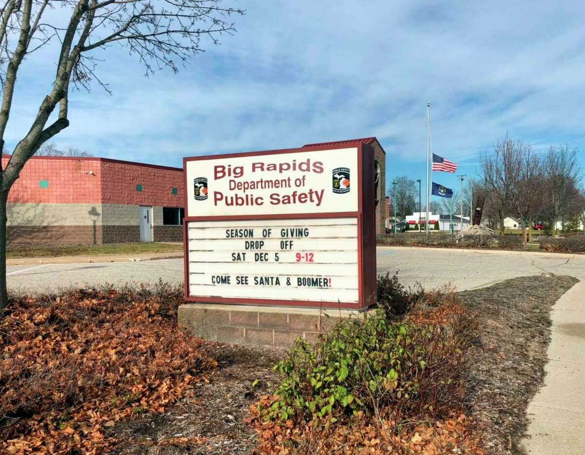 To participate in the first annual Season of Giving gift drive, people can pull into a designated lane in front of the Big Rapids Department of Public Safety building at 435 N. Michigan Avenue, where Santa will be on site to accept donations and wave from a safe distance. The drive-by event will take place from 9 a.m. to noon on Saturday.(Photo courtesy of the Big Rapids Department of Public Safety)