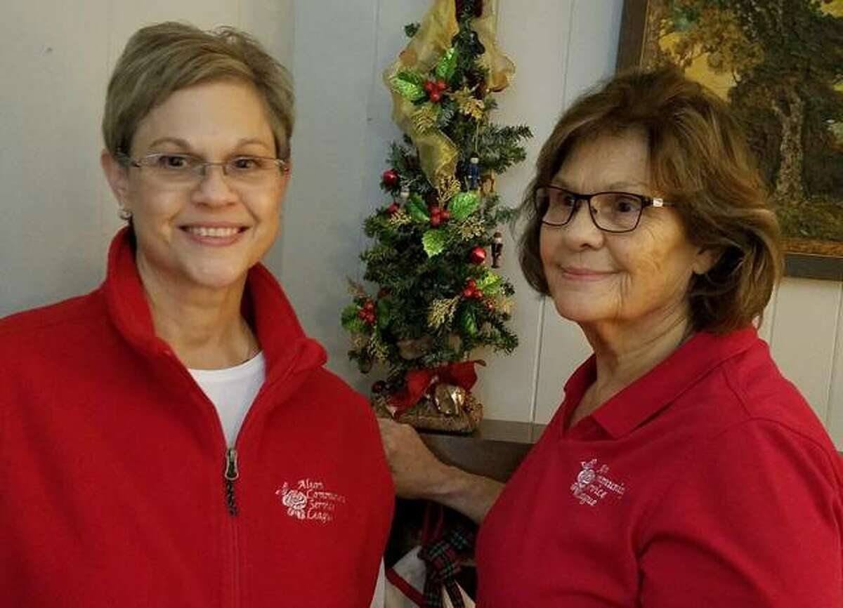 Pictured are Cathy Droste, Ways and Means Chair, and her mother, Sandy Goeken, sporting the new Alton Community Service League gear.