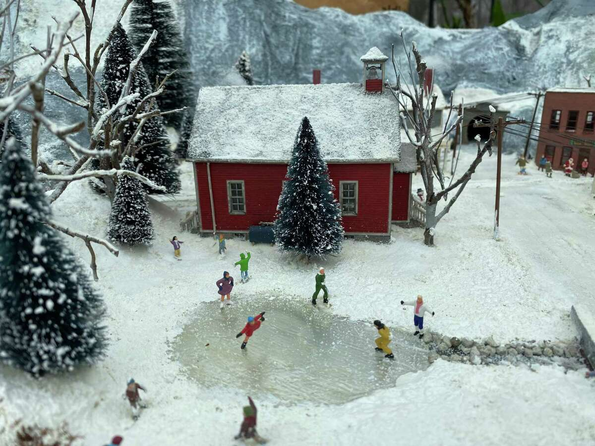 WONDERLAND: A miniature snow scene is part of Beardsley Zoo's