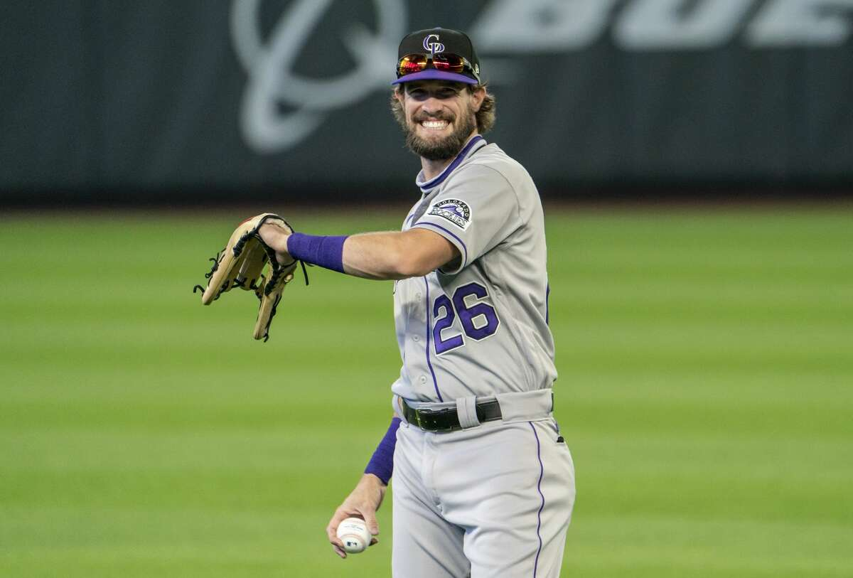 David Dahl endured a 2020 season with the Rockies that was curtailed by injury.