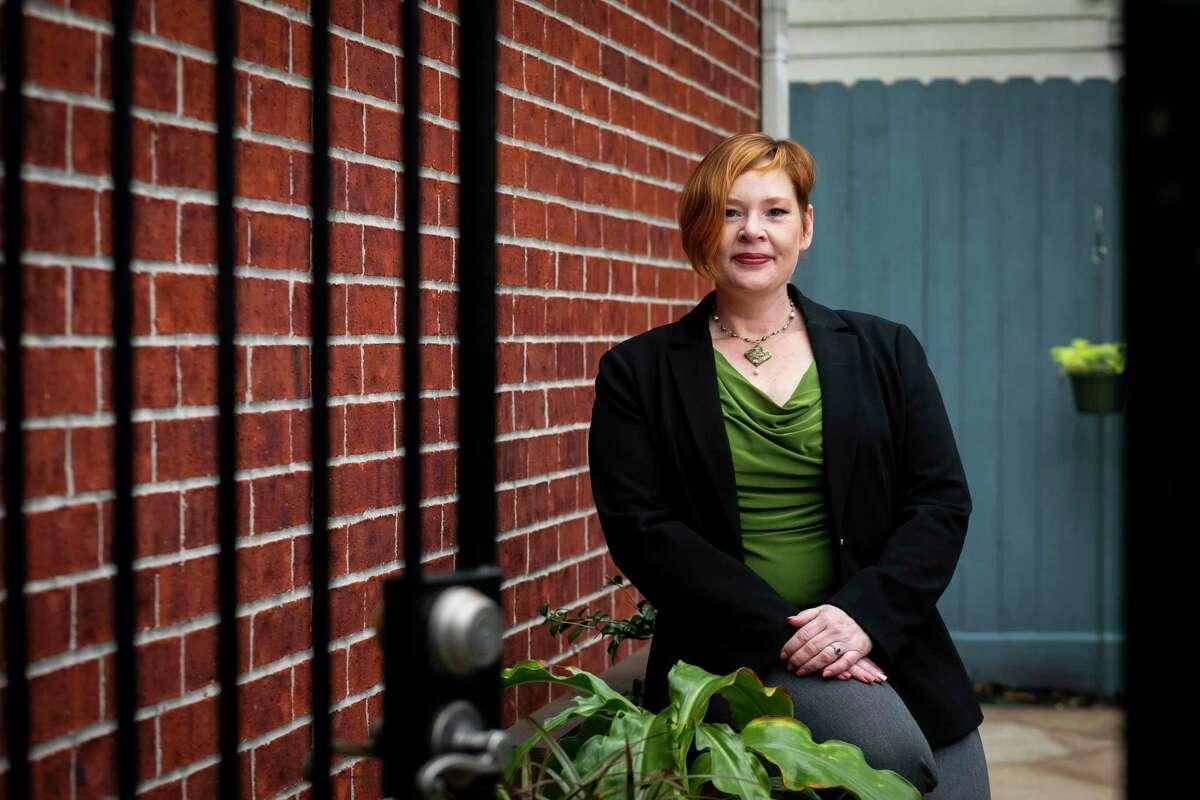 Chevron senior counsel Alyssa Schindler outside of her Montrose home on Thursday, December 3, 2020.