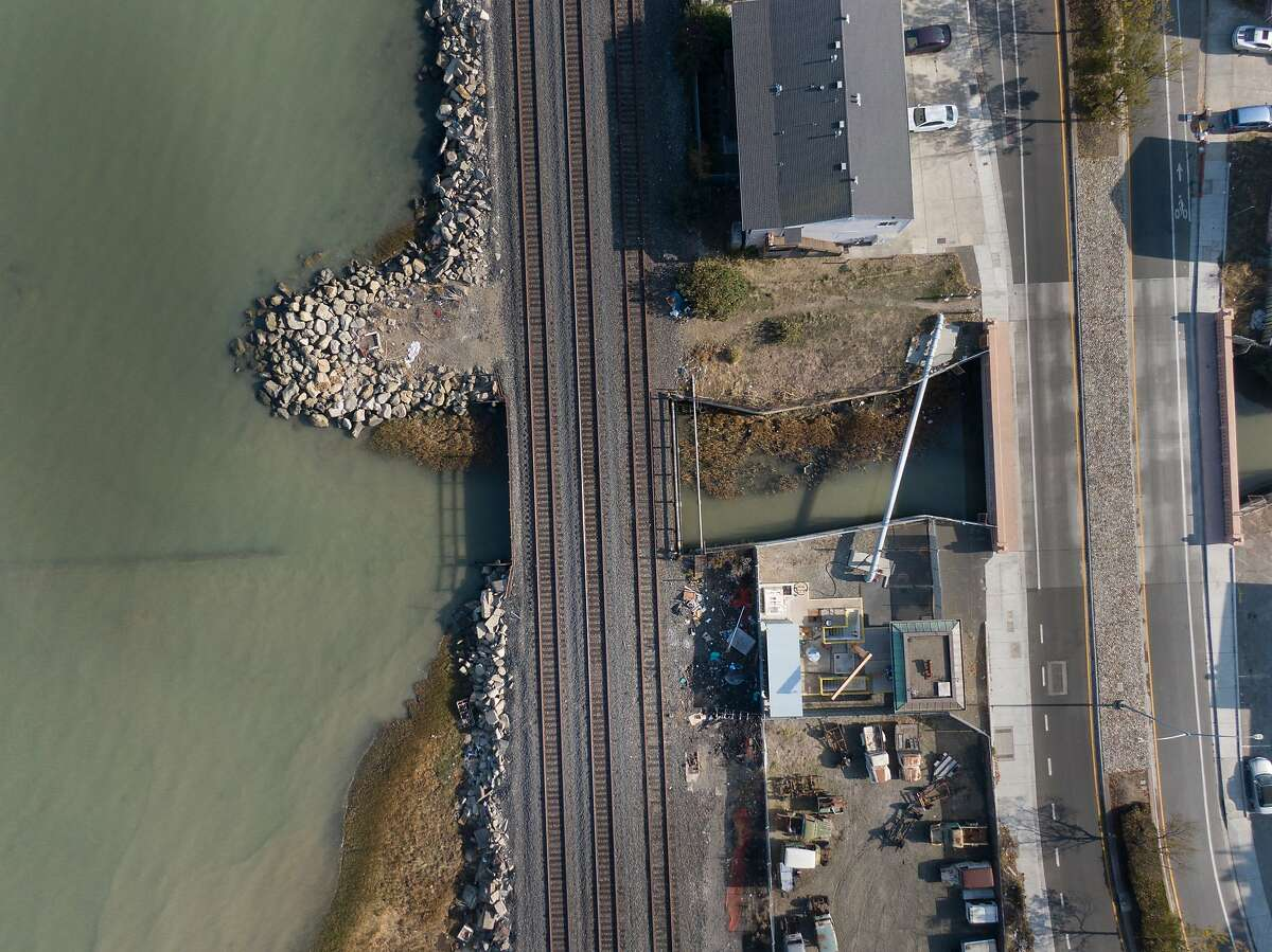 Rodeo Creek in Hercules, Calif. The fish-killing substance 6PPD-quinone was found in four Bay Area waterways, including this creek near the Carquinez Strait.