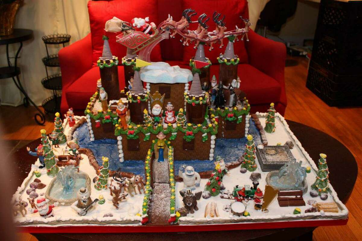 Sweet Lisa's Exquisite Cakes in Greenwich makes elaborate gingerbread houses.