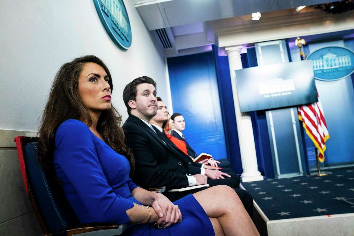 Alyssa Farah, White House director of communications, attends a news conference in May 2020.