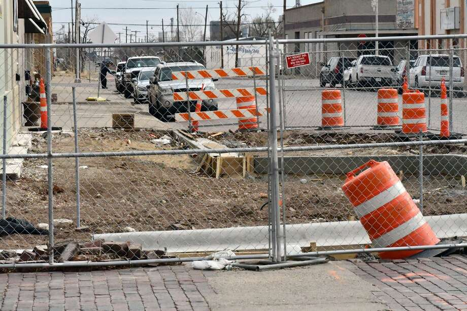Construction activity for the downtown StreetScape project is anticipated to wrap in August 2021. Photo: Nathan Giese/Plainview Herald