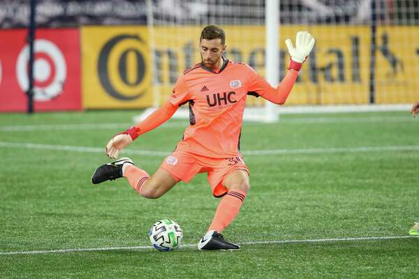 New England Revolution goalkeeper Matt Turner during a Nov. 20 game against the Montreal Impact. Turner has gone from Fairfield University to being one of the best at his position in Major League Soccer.