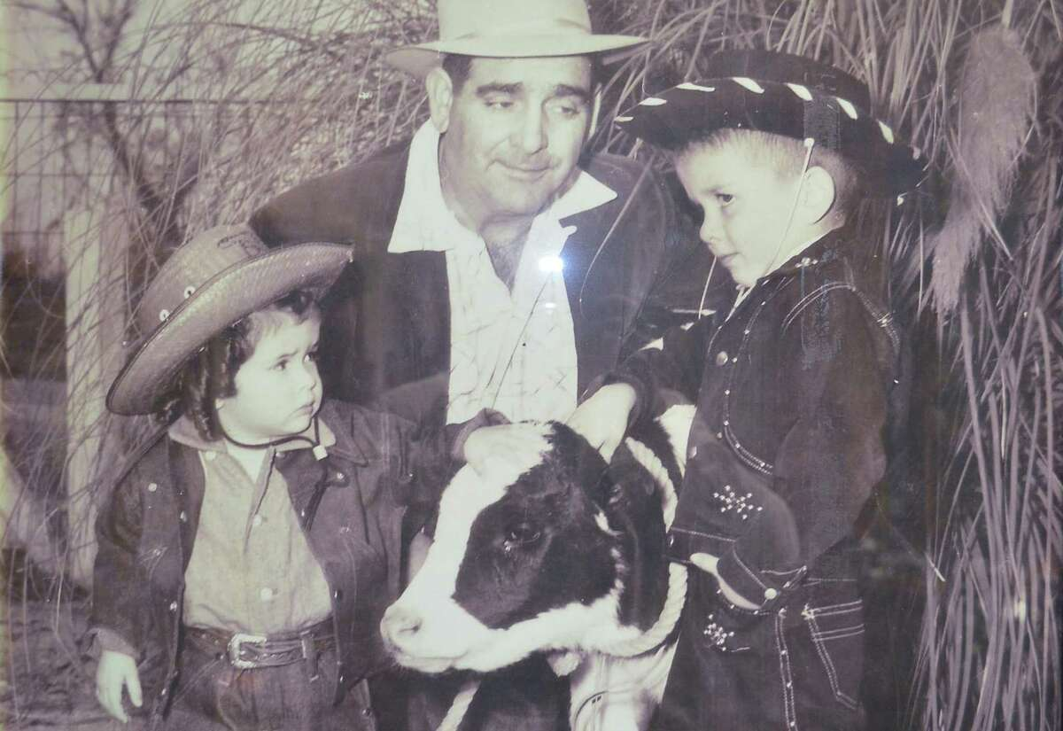 A young Rep. Jim Costa, D-Fresno, right, with his father, Manuel Costa, center, and cousin Johnell Wilt on the family's dairy farm in the Central Valley in the 1950s. Costa lost his bid Thursday to chair the powerful House Agriculture Committee.