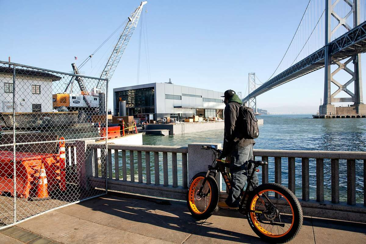You don't see a floating fire station being docked on the Embarcadero every day. Thursday was good for that.