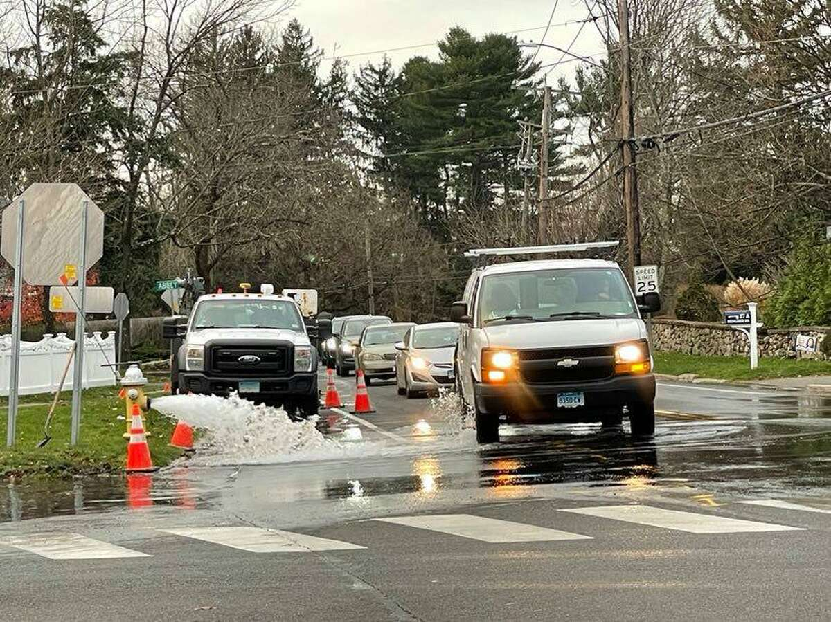 What appears to be a water main break has closed Holmes School in Darien due to lack of water in the school Friday, Dec. 4.