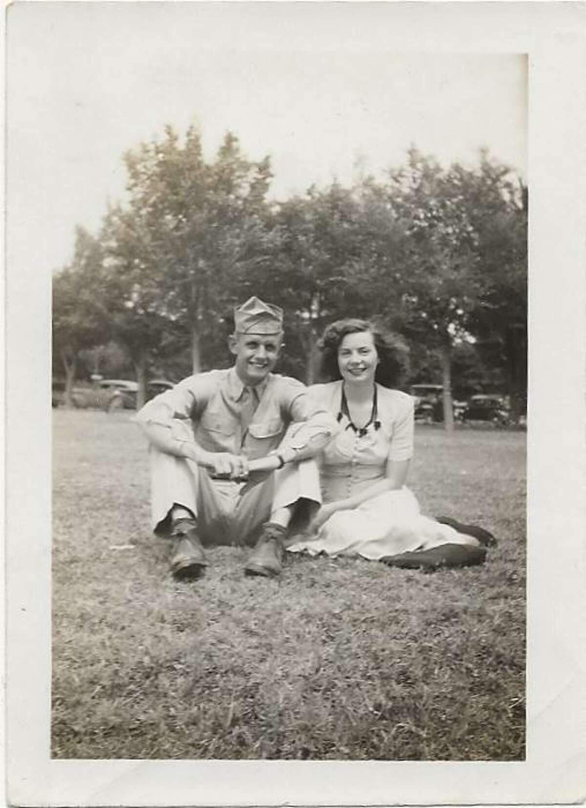Eugene and Evelyn Reed in 1942 It was most likely taken at a park in Plainview according to Peggy Williams Bain, Evelyn's niece.
