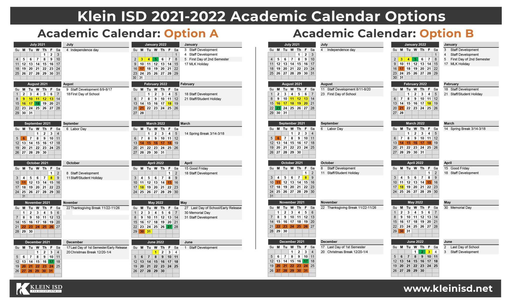 Klein Isd Calendar 2022.Spring Klein School Notebook Klein Isd Asks For Feedback On 2021 2022 Academic Calendar
