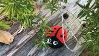 San Antonio Rocks craft lesson teaches kids to transform a stone into a ladybug - Photo