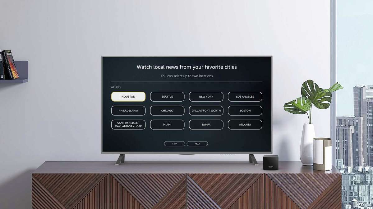 Amazon is now including newscasts from a dozen U.S. cities in its built-in news app on its Fire TV streaming platform.