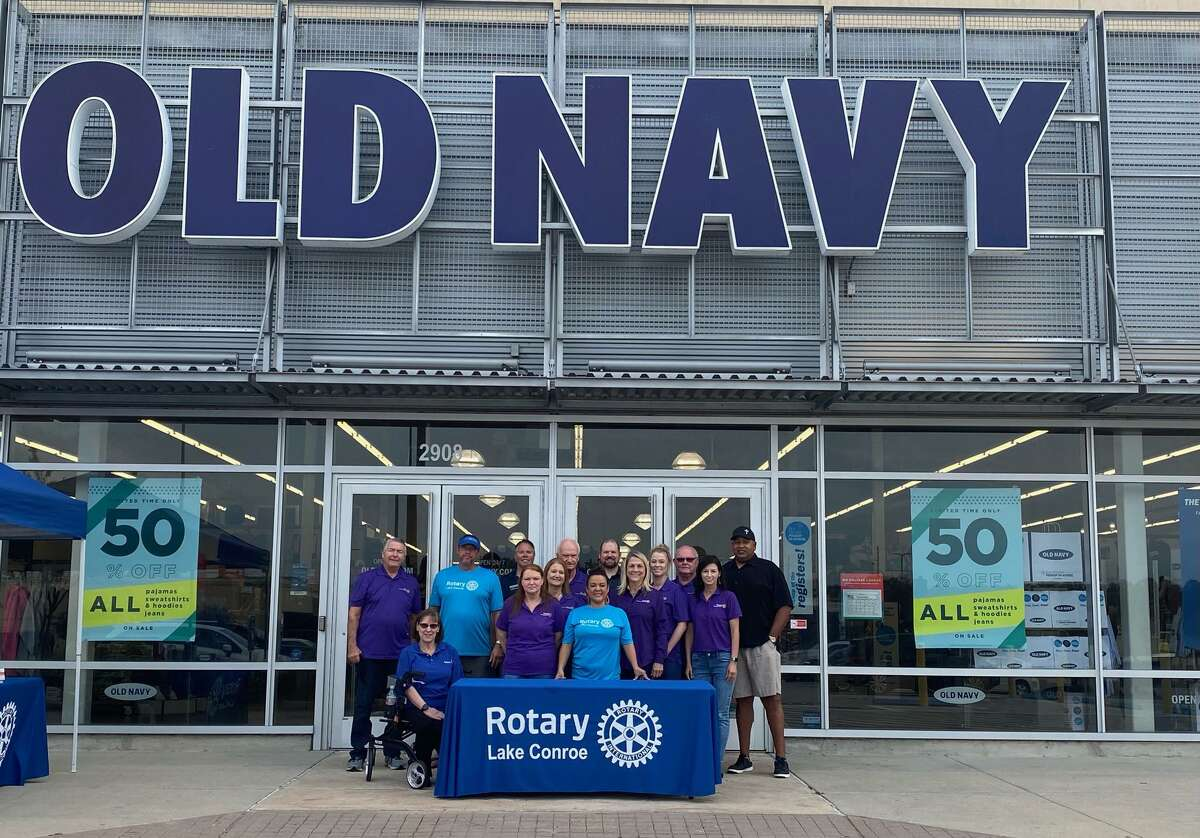 """The Rotary Club of Lake Conroe hosted their 5th annual """"Clothing for Kids"""" event, in conjunction with the wonderful folks at Old Navy Conroe. Thirty six deserving youngsters were able to shop til they dropped on Saturday, morning, Nov. 14, thanks to a matching grant from Rotary District 5910 and RCLC."""