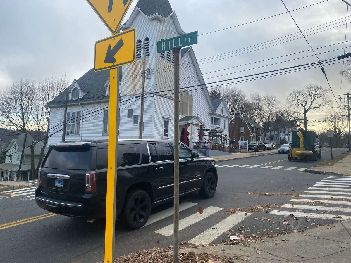 The intersection of Hill Street and Coram Avenue could one day be home to raised crosswalks as a way to calm traffic and provide a safer pedestrian walkway.
