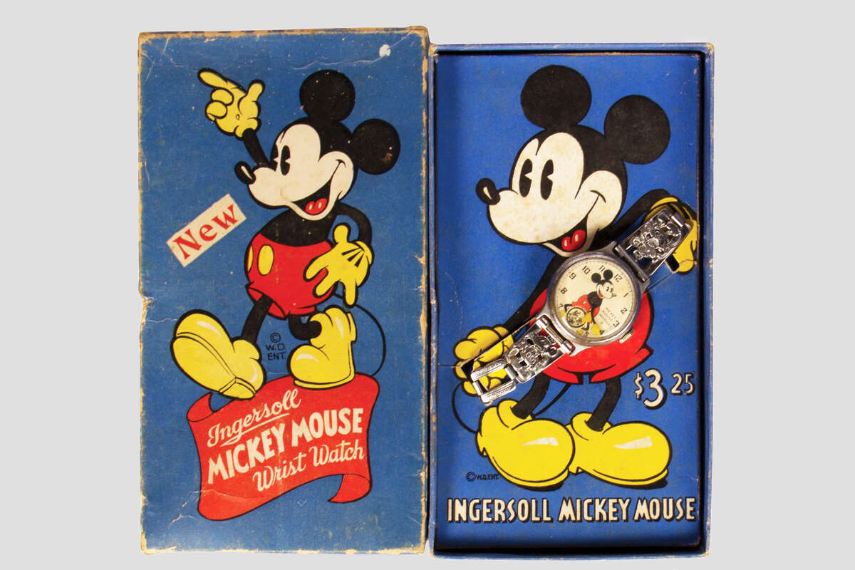 This 1938 Mickey Mouse wristwatch is expected to sell for $300-$500 at the auction on December 5