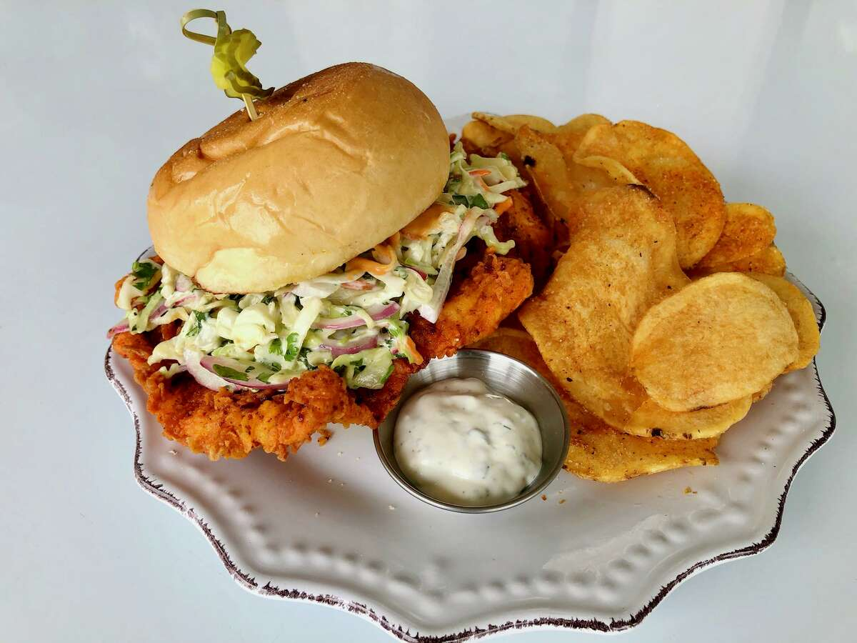 Harvest Kitchen & Bakery is located at 21971 Katy Freeway in Katy and serves a wide range of dishes like this hot chicken sandwich.