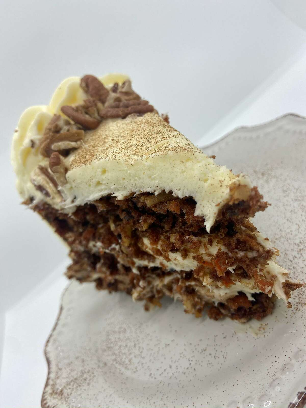Harvest Kitchen & Bakery is located at 21971 Katy Freeway in Katy and serves delicious desserts like carrot cake.