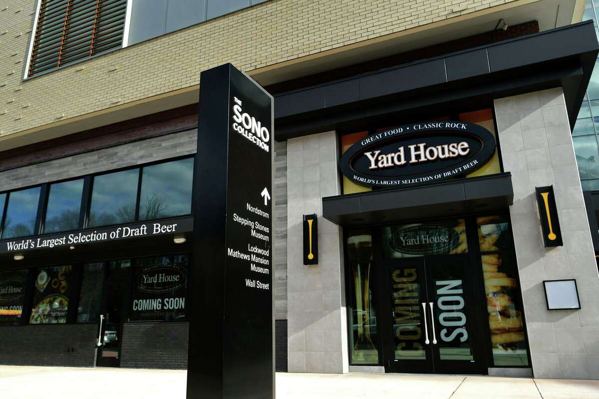 Yardhouse restaurant at the SoNo Collection mall Friday, December 4, 2020, in Norwalk, Conn. Norwalk's director of business development, Sabrina Church, is having to debunk rumors that the restaurant may never open.
