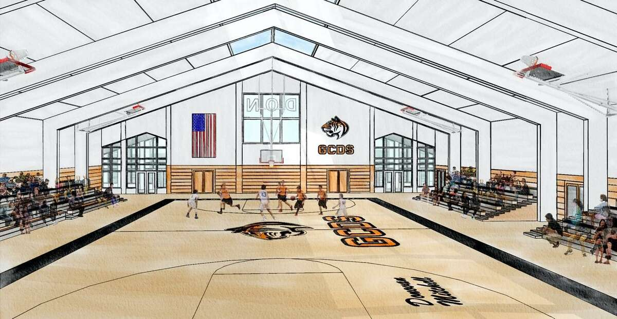 A drawing of the D.O.N.! The Determination Over Negativity Mitchell Family Athletic Center, which will be built at Greenwich Country Day School, thanks to a $12 million donation from NBA star Donovan Mitchell announced by the school Friday, Dec. 4, 2020.