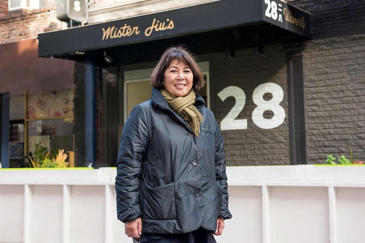 Betty Louie stands outsideof Mister Jiu's restaurant in Chinatown, November 10, 2020.