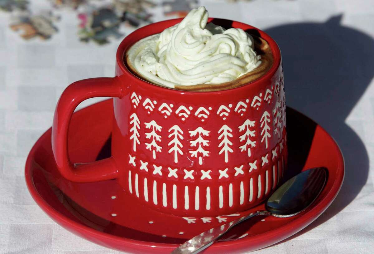 Hot chocolate, like this Parisian Hot Chocolate, is topped with Chantilly cream, photographed Wednesday, Nov. 11, 2020. (Hillary Levin/TNS)
