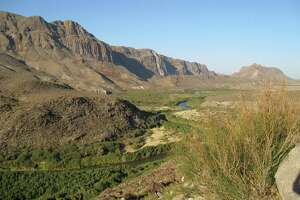 Mountains of Mexico rise south of the Rio Grande River, which is locally called the Rio Bravo, and Big Bend Ranch State Park. Ranch Road 170 forms the park's southern boundary, twisting like a roller-coaster along the scenic route.