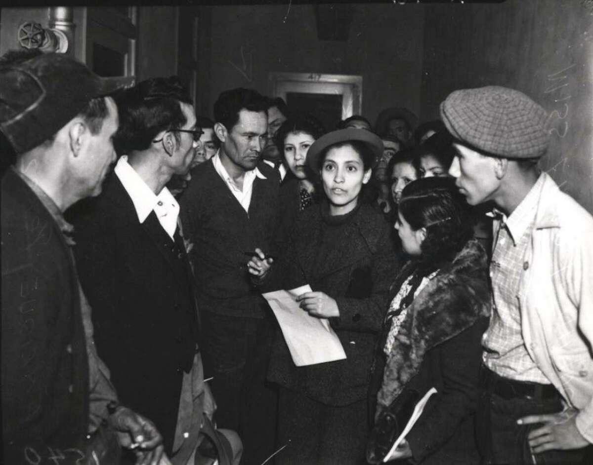 Emma Tenayuca led the Pecan-Shellers Strike of 1938 against wage cuts.