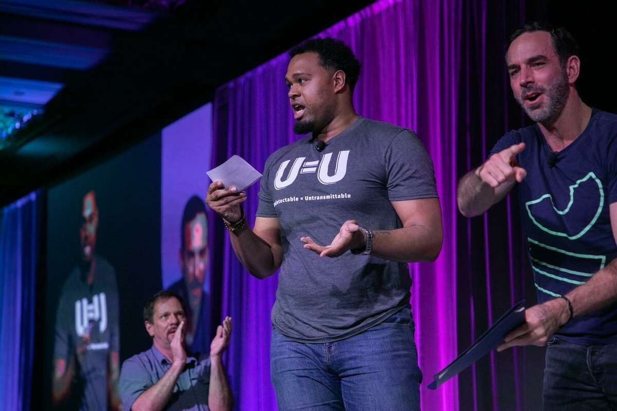 Beaumont native and HIV activist Deondre B. Moore speaks at the 2019 United States Conference on AIDS (USCA).