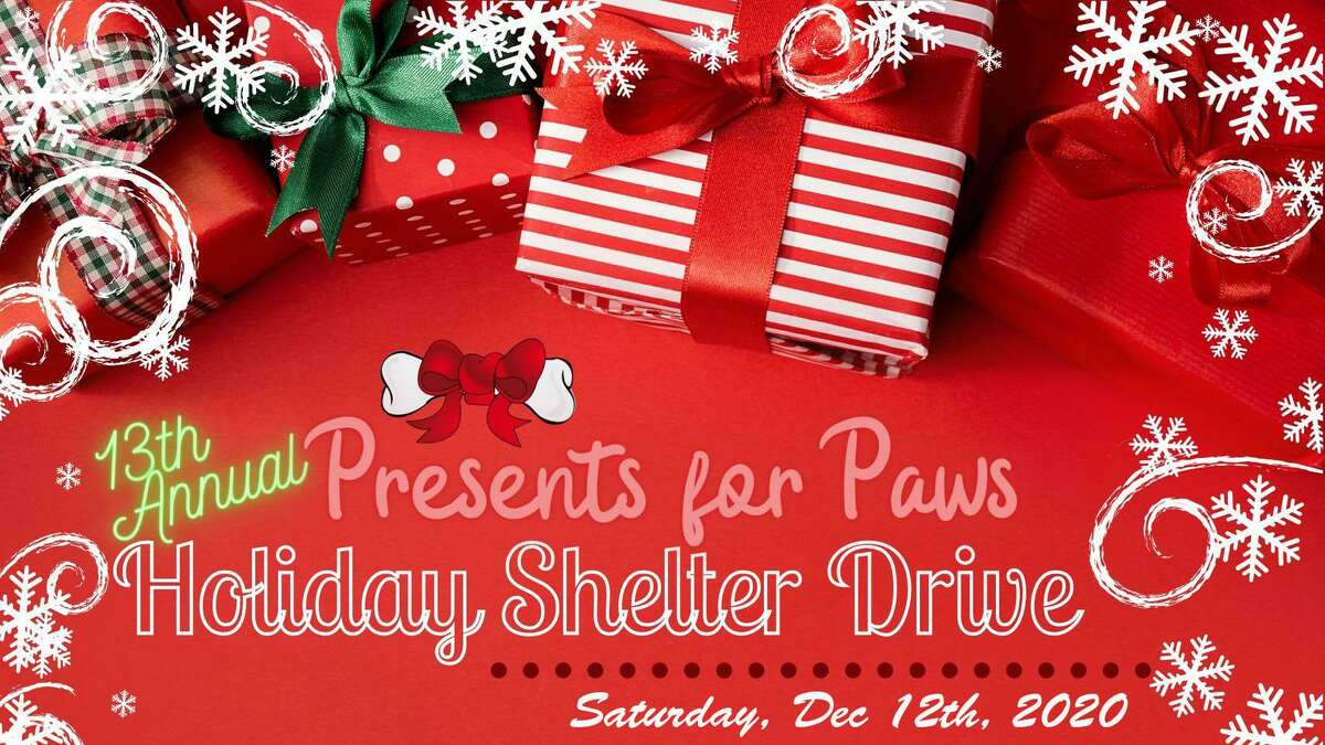 The Presents for Paws Holiday Shelter Food Drive will be held Dec. 12 in East Haddam.