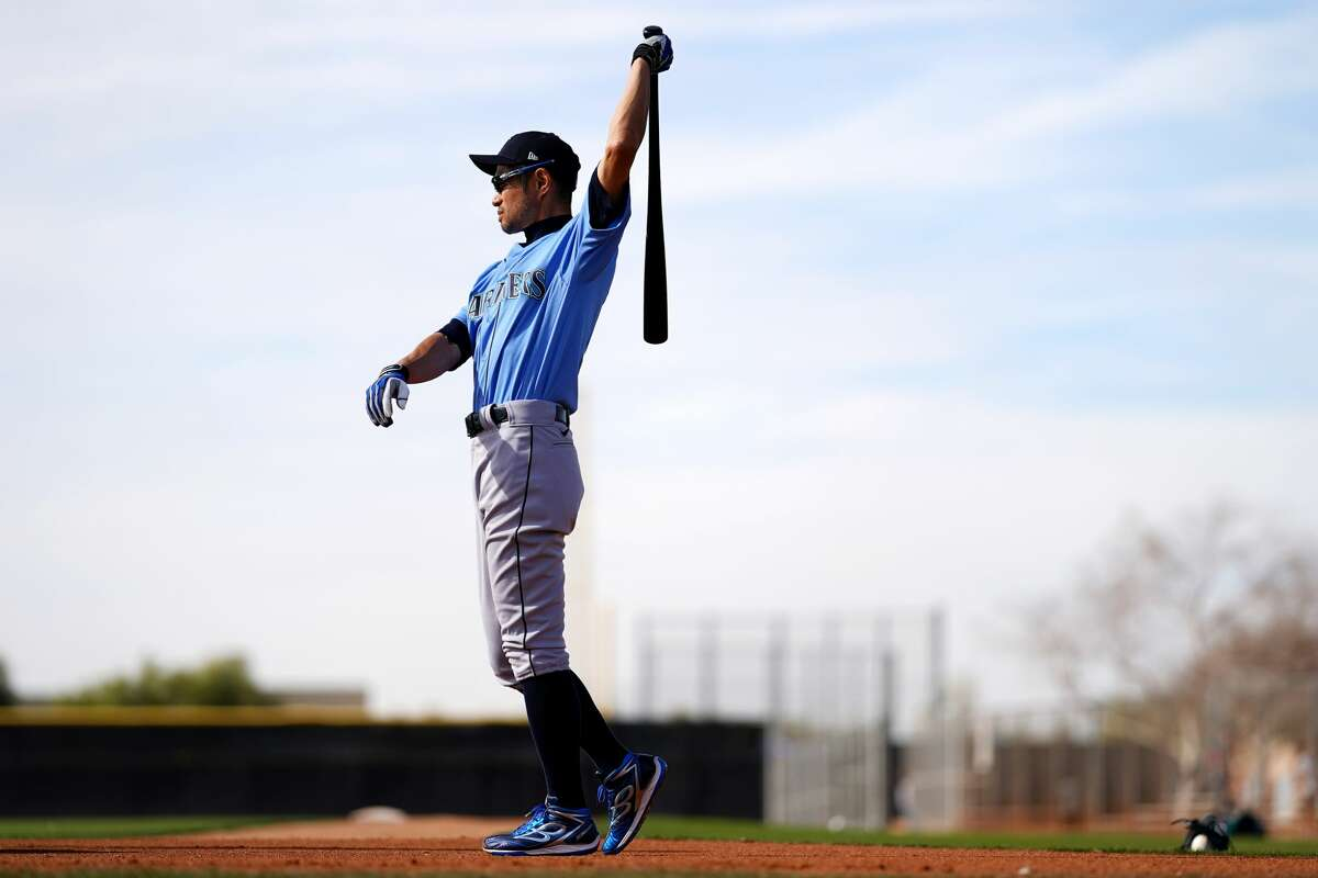 PEORIA, AZ - FEBRUARY 21: Ichiro Suzuki of the Seattle Mariners looks on during the spring training at the Peoria Stadium on February 21, 2020 in Peoria, Arizona. (Photo by Masterpress/Getty Images)