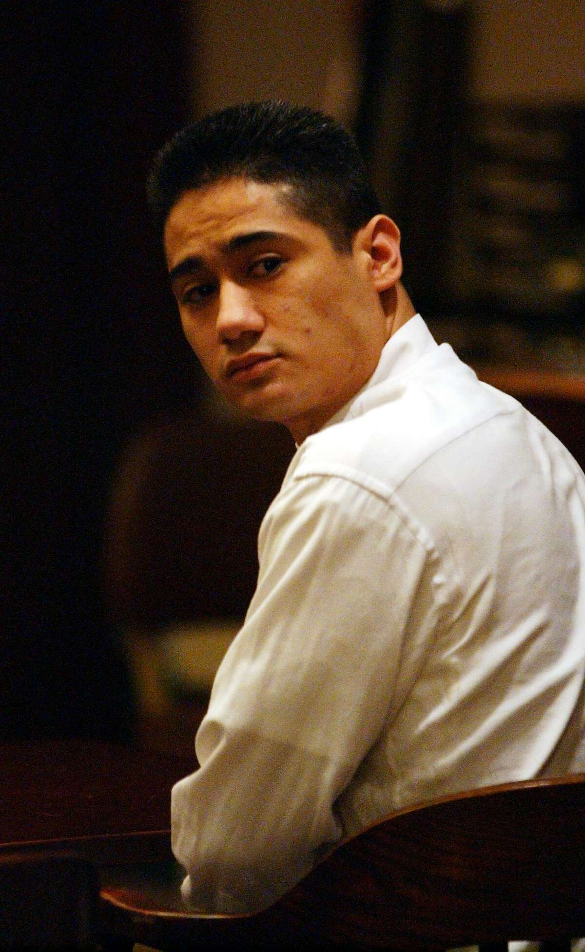 Geronimo Gutierrez, 24, at his capital murder trial in 2002.