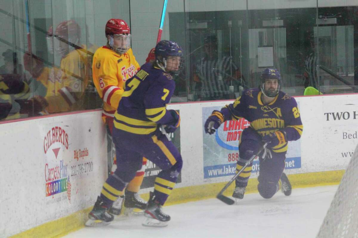 Blake Evennou (6) is expected to be among the top defenders for Ferris State hockey this season. (Pioneer photo/John Raffel)