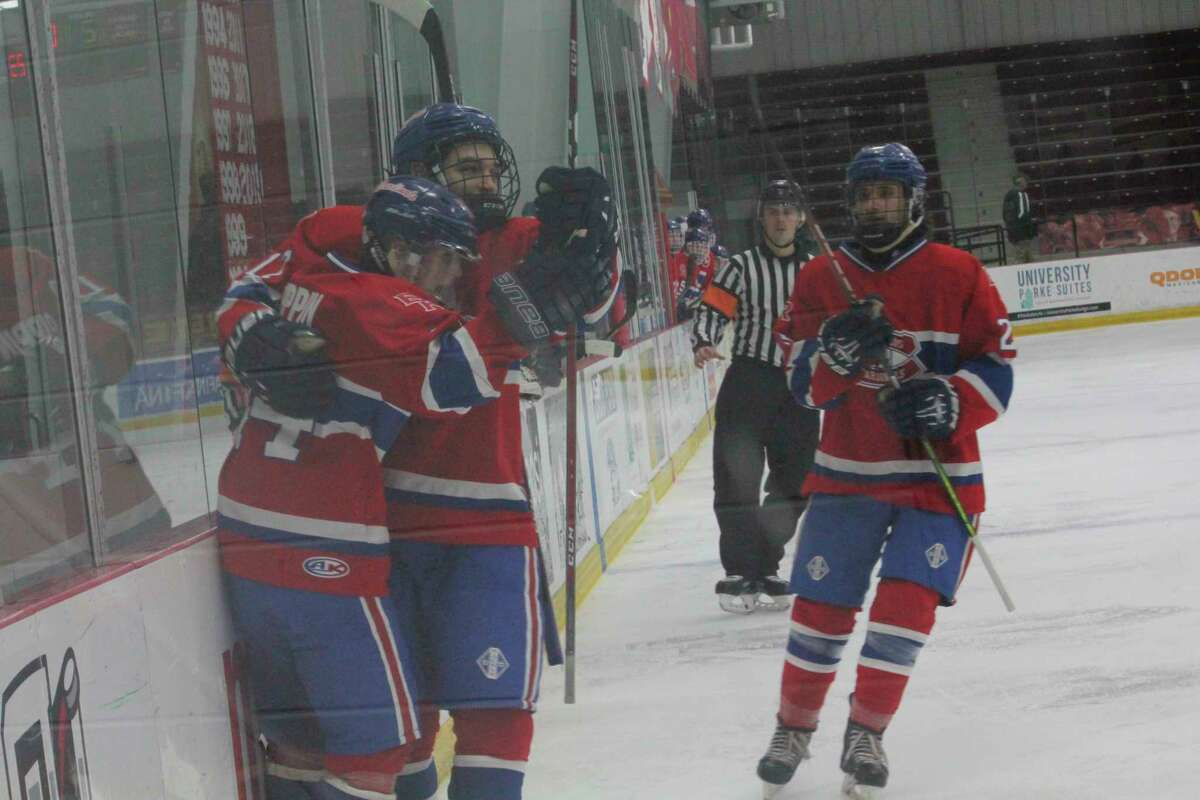 Big Rapids' hockey team hopes to be in a celebration mood all season. (Pioneer file photo)