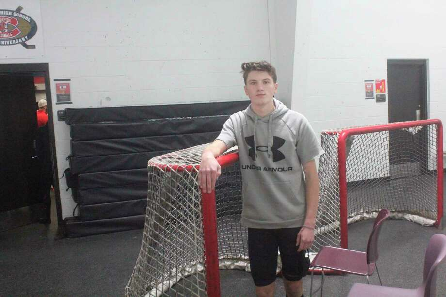 Big Rapids Brendan Pippin gets ready for the first day of practice on Nov. 2. (Pioneer photo/John Raffel)