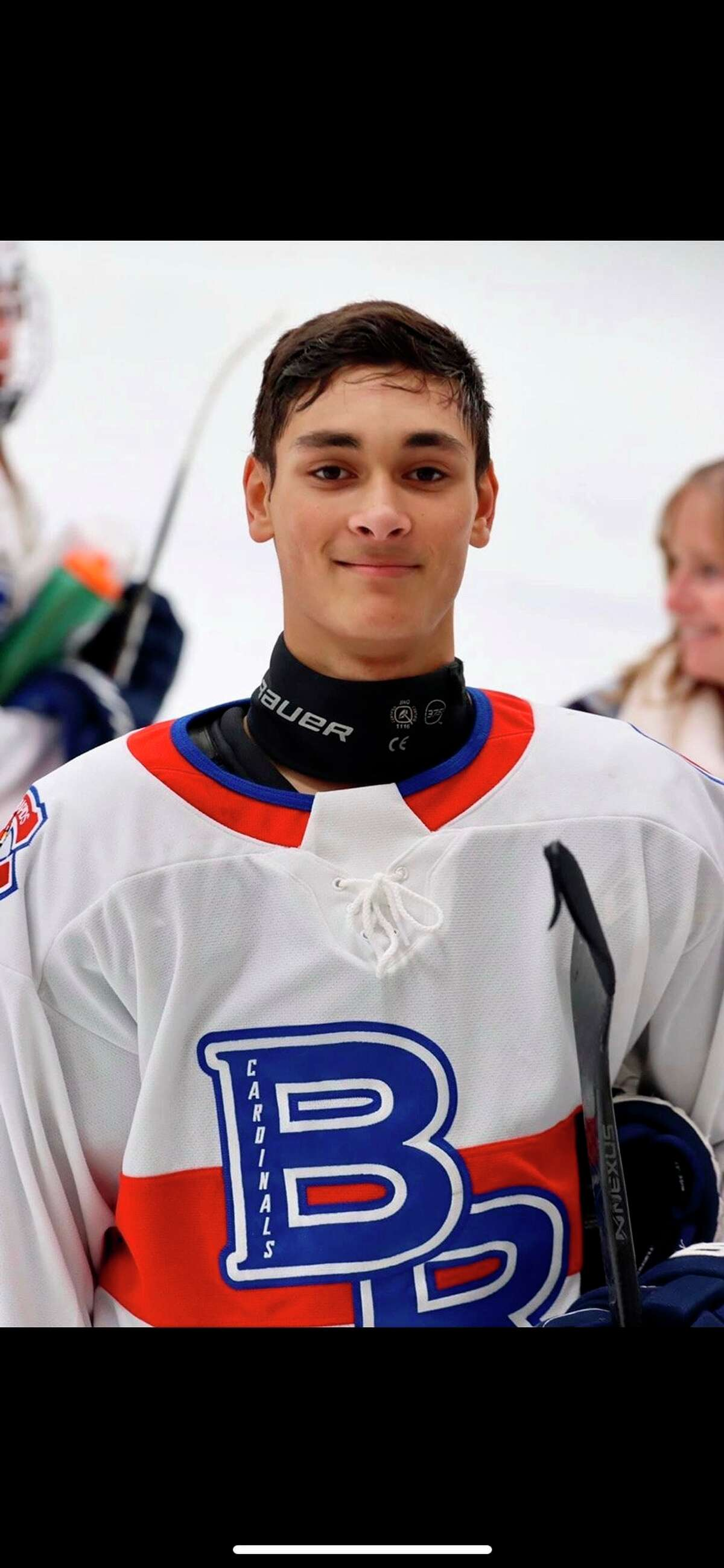 Thomas Holt is in his senior season for Big Rapids hockey team. (Courtesy photo)