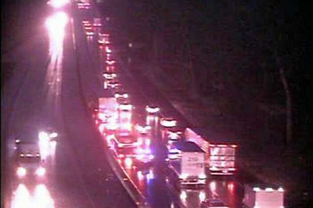 Southbound I-95 is closed Saturday morning because of a two-vehicle crash, the state Department of Transportation said on Dec. 5, 2020. The crash, reported at 6:23 a.m., has closed the southbound lanes between exits 61 and 60.