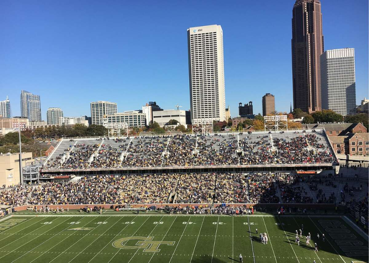 #49. Bobby Dodd Stadium - College: Georgia Tech - Conference: ACC - Capacity: 55,000 - Opened: 1913 Fast facts: Bobby Dodd Stadium was called Grant Field until 1988. While games were played there as early as 1905, it wasn't until 1913 that grandstands were put in-mostly by Georgia Tech students. Marquee game: Oct. 7, 1916 - Georgia Tech 222, Cumberland College 0