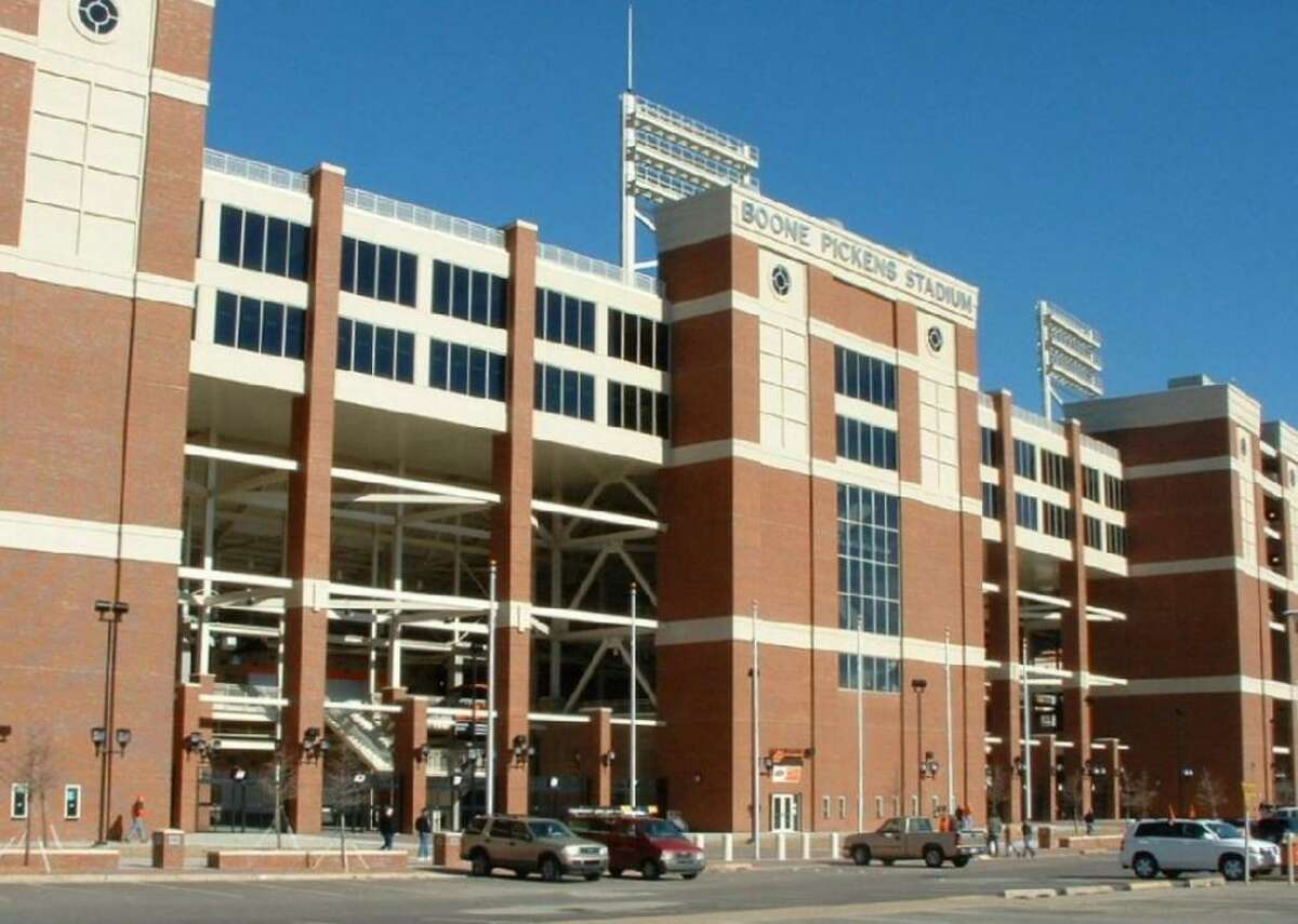 #48. Boone Pickens Stadium - College: Oklahoma State - Conference: Big 12 - Capacity: 55,509 - Opened: 1920 Fast facts: Boone Pickens Stadium is named after business magnate and Oklahoma State alumnus T. Boone Pickens, who donated $165 million to the school's athletic department. The money went toward massive advancements in the school's athletic facilities, including an expansion to the football stadium that raised its capacity to 60,218 in 2009. Marquee game: Dec. 3, 2011 - Oklahoma State 44, Oklahoma 10