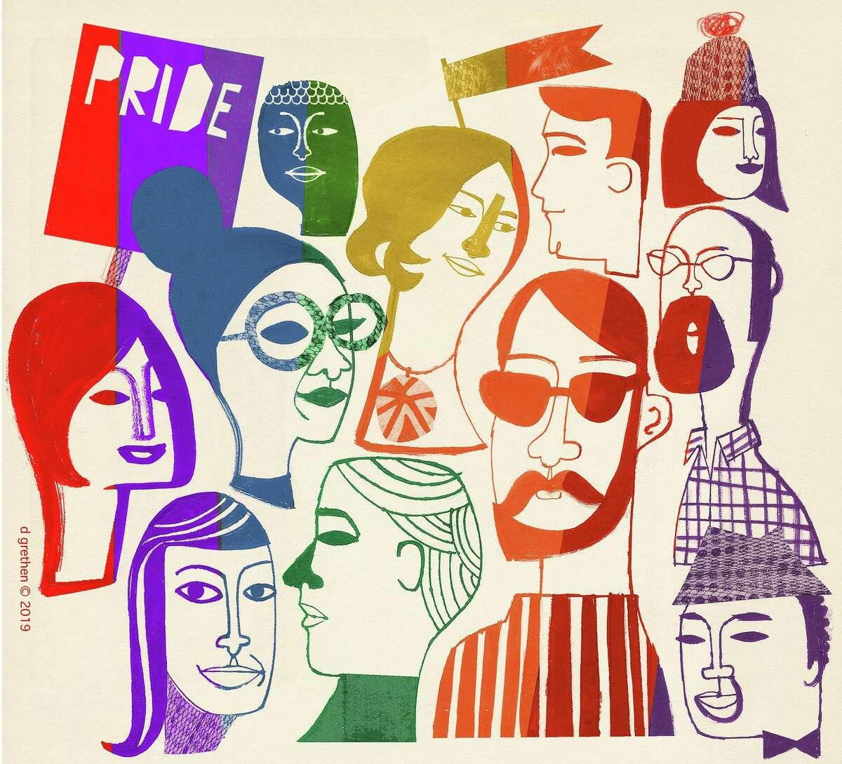 Donna Grethen graphic on LGBTQ community