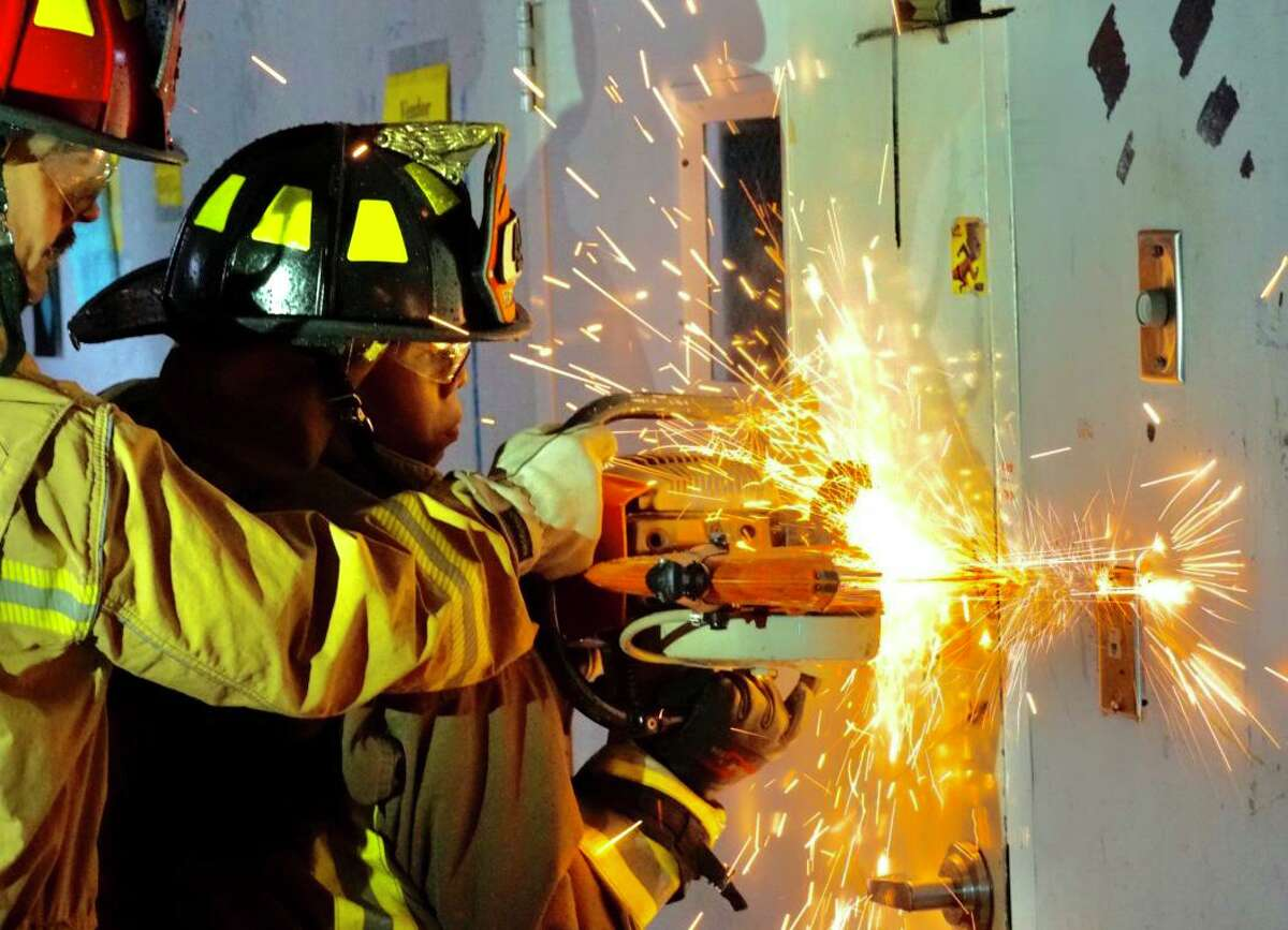 The Atascocita Fire Department held a training at CVS, which will be demolished soon.