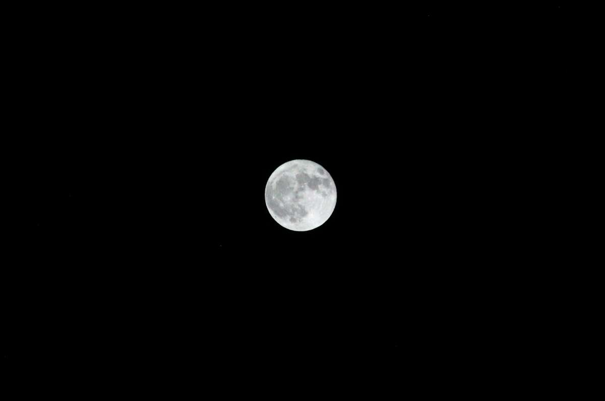 Earth's moon, in its full phase, is photographed Oct. 31, 2020, in central Michigan. (Courtesy photo/Claire Moore)