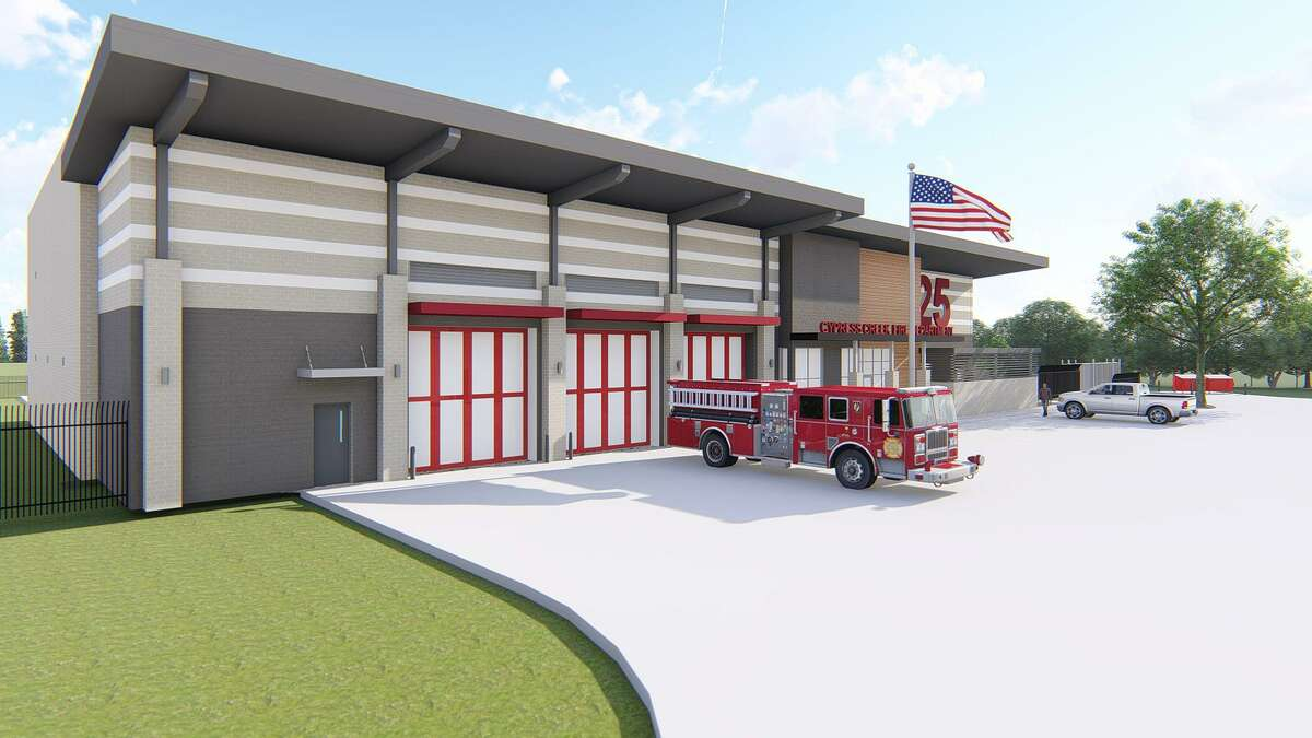 The artist's rendering of the new Station 25 which will be located at 8635 Fallbrook Drive, Houston, Texas 77064 will help protect the underserved area in the southern portion of the district.