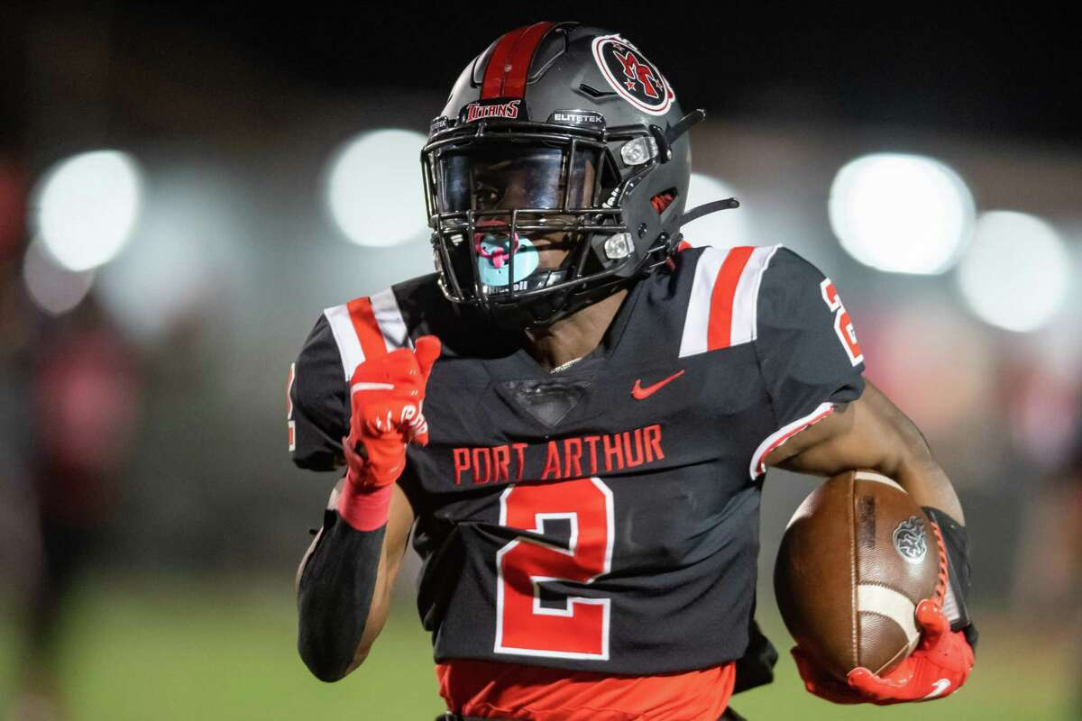 The Port Arthur Memorial Titans defeated the Friendswood Mustangs Friday night in the final game of the season finishing their season undefeated for the first time in school history. Photo made on December 4, 2020. Fran Ruchalski/The Enterprise